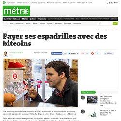 Payer ses espadrilles avec des bitcoins