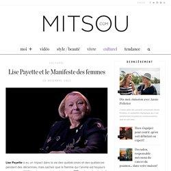 Lise Payette et le Manifeste des femmes – Mitsou.com