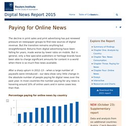Paying for Online News - Digital News Report 2015