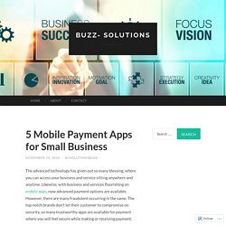 5 Mobile Payment Apps for Small Business