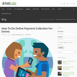 How to Do Online Payment Collection For Events