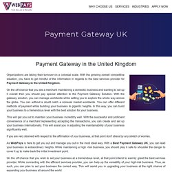 Payment Gateway in the United Kingdom - High Risk Merchant Account UK
