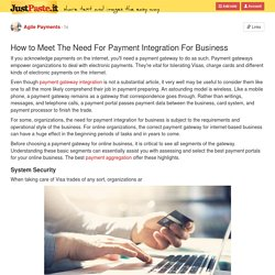 How to Meet The Need For Payment Integration For Business