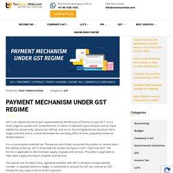 PAYMENT MECHANISM UNDER GST REGIME