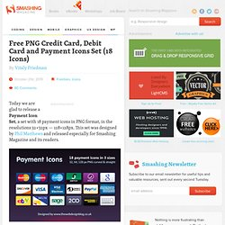 Free PNG Credit Card, Debit Card and Payment Icons Set (18 Icons) - Smashing Magazine