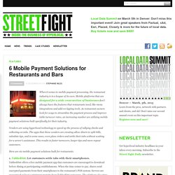 6 Mobile Payment Solutions for Restaurants and Bars