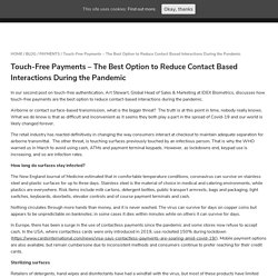 Touch-Free Payments Reduce Contact-Based Interactions