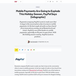 Mobile Payments Are Going to Explode This Holiday Season, PayPal Says [Infographic]
