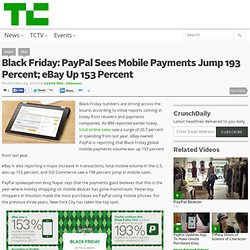 Black Friday: PayPal Sees Mobile Payments Jump 193 Percent; eBay Up 153 Percent