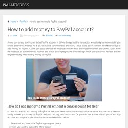 How to add money to PayPal account?