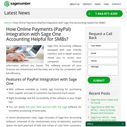 PayPal Integration with Sage One Accounting for SMB