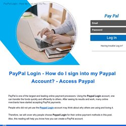 Paypal login to my account