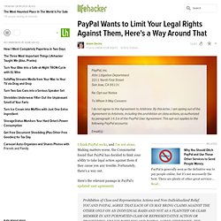 PayPal Wants to Limit Your Legal Rights Against Them, Here's a Way Around That