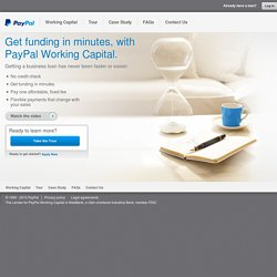 PayPal Working Capital - PayPal US