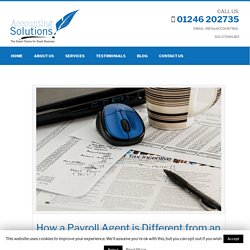 How a Payroll Agent is Different from an Accountant