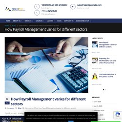 How Payroll Management varies for different sectors