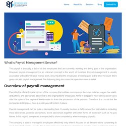 What Is Payroll Management Service?