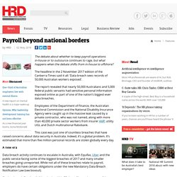 Payroll beyond national borders