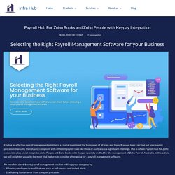 Payroll Hub For Zoho Books and Zoho People with Keypay Integration - Infra Hub