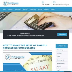 How Payroll Process Outsourcing Works