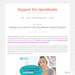 Manage your payroll with QuickBooks Payroll Support – Support For Quickbooks
