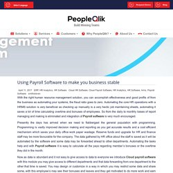Using Payroll Software to make you business stable
