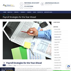 Payroll Strategies for the Year Ahead