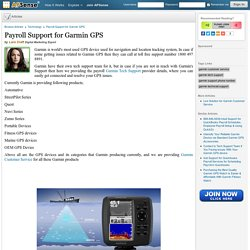 Payroll Support for Garmin GPS by Lara Craft