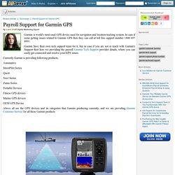Payroll Support for Garmin GPS by Lara Craft