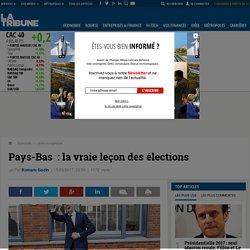 Pays-Bas: la vraie leçon des élections