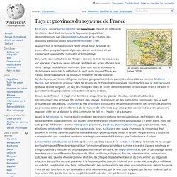 Pays et provinces du royaume de France