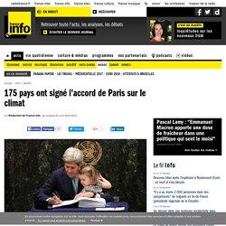 175 pays ont signé l'accord de Paris sur le climat
