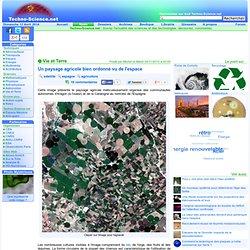 Un paysage agricole bien ordonné vu de l'espace