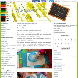 Paysage d'hiver - Maternelle and co