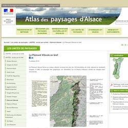 Atlas des paysages d'Alsace - Le Piémont Viticole en bref