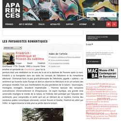 Les paysagistes romantiques – Aparences: Histoire de l'Art et actualité culturelle