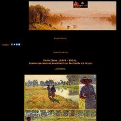 Emile Claus - Analyse de Jeunes paysannes marchant sur les bords de la Lys