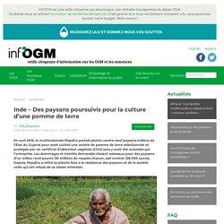 Inde – Des paysans poursuivis pour la culture d'une pomme de terre