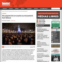 Des paysans bio en soutien au mouvement Nuit Debout