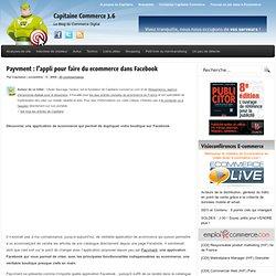Payvment : l'appli pour faire du ecommerce dans Facebook