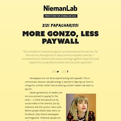 More gonzo, less paywall