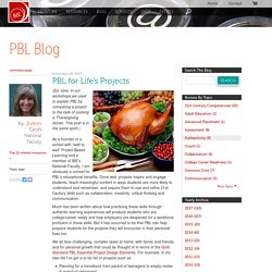 PBL for Life's Projects