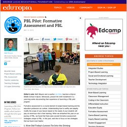 PBL Pilot: Formative Assessment and PBL
