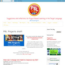 PBL in the TL: PBL Projects