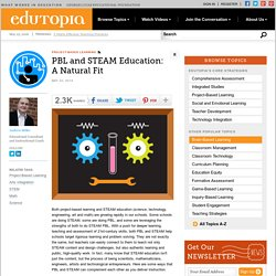 PBL and STEAM Education: A Natural Fit