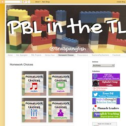 PBL in the TL: Homework Choices