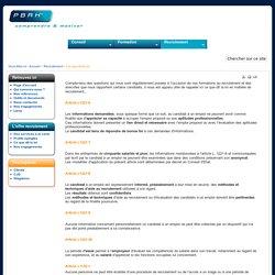 PBRH - recrutement - ce que dit la loi