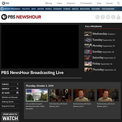 NewsHour Recent Programs