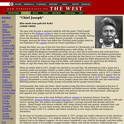 THE WEST - Chief Joseph