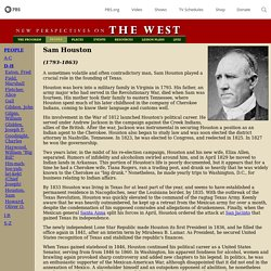THE WEST - Sam Houston